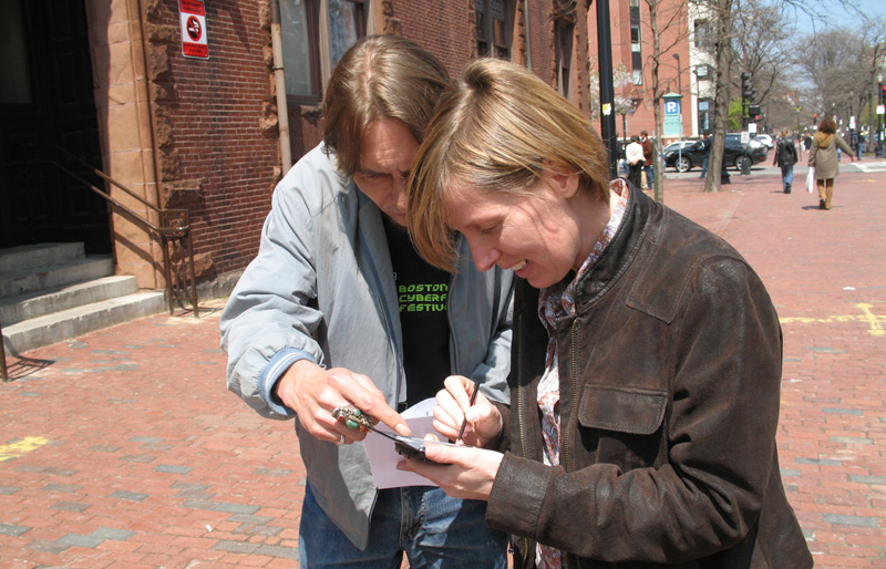 Handheld Histories as Hyper-Monuments, Newbury St, Boston (2007)