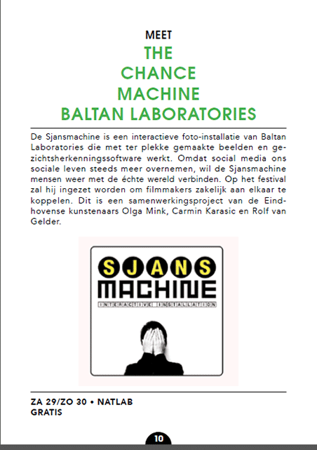 SjansMachine @ Eindhovens Film Festival (catalogue)
