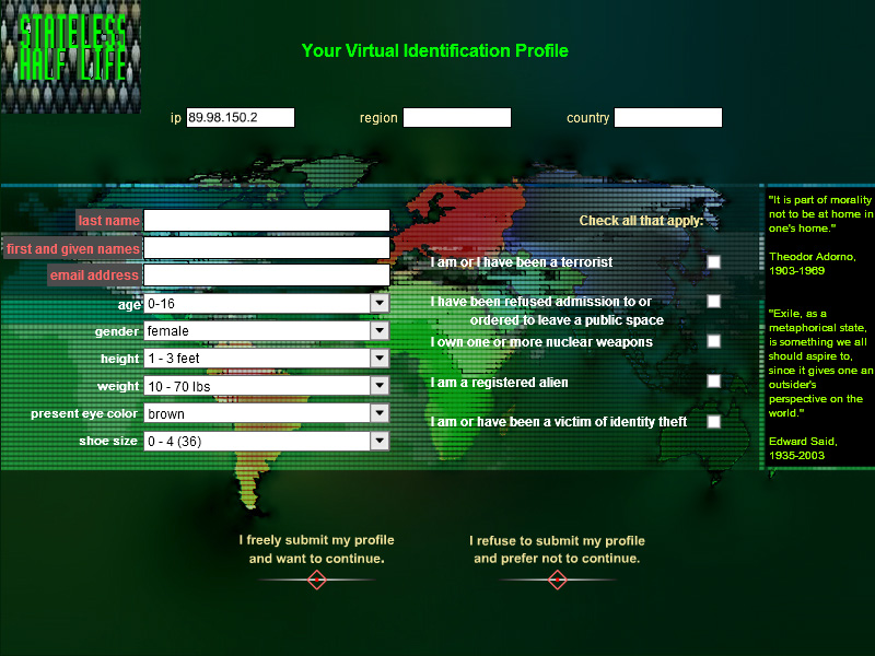 Your Virtual Identification Profile