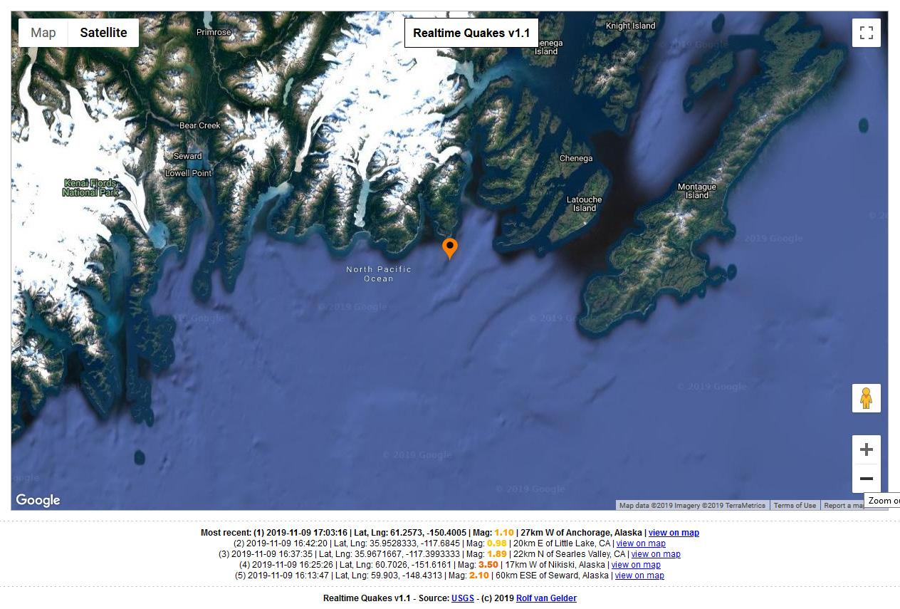 realtime quakes